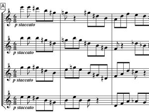 Extract from score